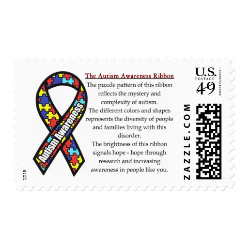 Autism Ribbon meaning Postage Stamps