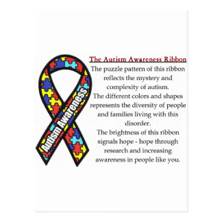 Autism Ribbon meaning Postcard