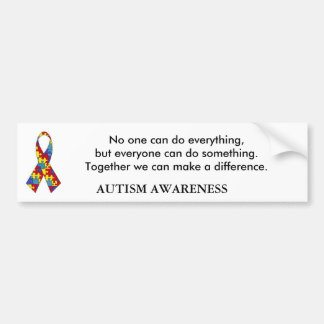autism_ribbon, No one can do everything, but ev... Bumper Sticker