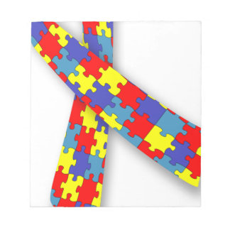 Autism Ribbon Notepad