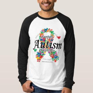 Autism Ribbon of Butterflies Tee Shirt