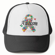 Autism Ribbon of Butterflies Trucker Hat