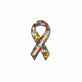 autism ribbon photo sculpture