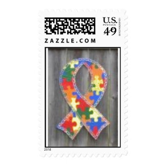 autism ribbon stamps