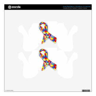Autism Ribbon Decal For PS3 Controller