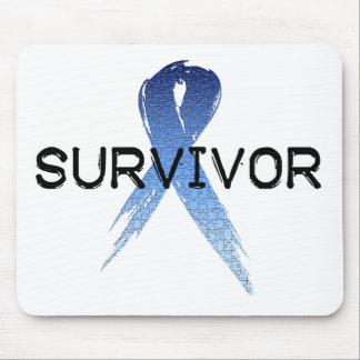 Autism Ribbon Survivor Mouse Pad