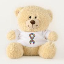 Autism Ribbon Teddy Bear