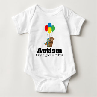 Autism Rising Higher With Love Baby Bodysuit