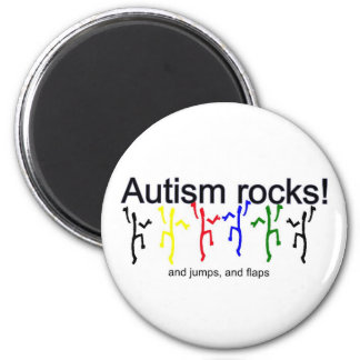 Autism rocks! 2 inch round magnet