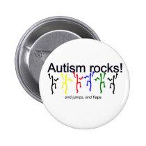 Autism rocks! pinback button