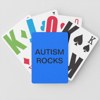 Autism Rocks playing cards