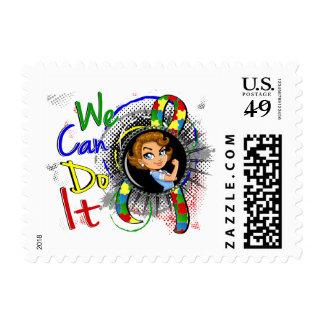 Autism Rosie Cartoon WCDI Postage Stamp