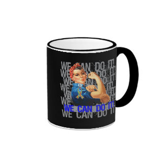 Autism Rosie WE CAN DO IT Mugs