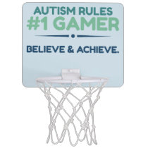 Autism Rules Net  Mini Basketball Goal Mini Basketball Backboard
