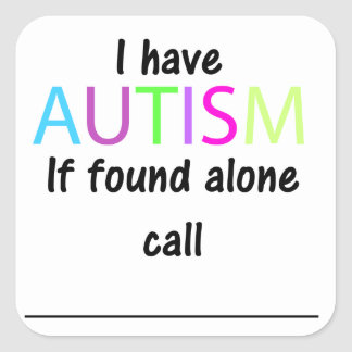 Autism Safety Stickers