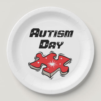 "Autism school/events Paper Plates 9"""