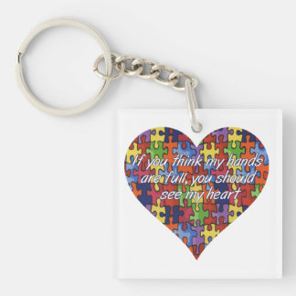 Autism See My Heart Key Chain