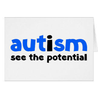 Autism - See The Potential Card