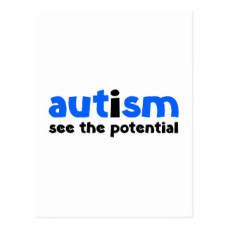 Autism - See The Potential Postcard