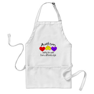 Autism, Seeing The World From A Different Angle Adult Apron