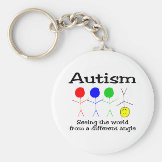 Autism Seeing The World From A Different Angle Basic Round Button Keychain