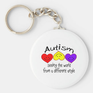 Autism, Seeing The World From A Different Angle Basic Round Button Keychain