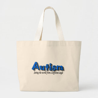 Autism Seeing The World From A Different Angle (Bl Large Tote Bag