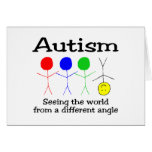 Autism Seeing The World From A Different Angle Card