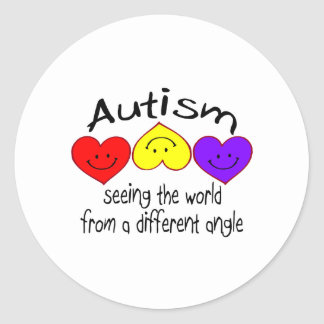 Autism, Seeing The World From A Different Angle Classic Round Sticker