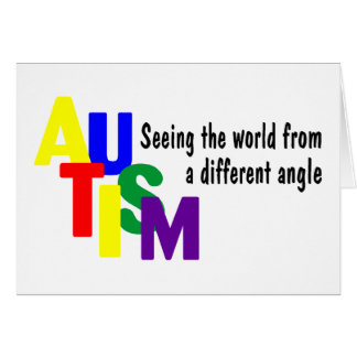 Autism Seeing The World From A Different Angle (Co Card