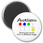 Autism Seeing The World From A Different Angle Refrigerator Magnet