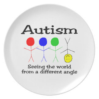 Autism Seeing The World From A Different Angle Melamine Plate