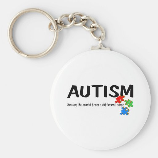 Autism Seeing The World From A Different Angle (Pi Keychain
