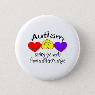 Autism, Seeing The World From A Different Angle Pinback Button