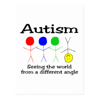 Autism Seeing The World From A Different Angle Postcard