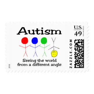 Autism Seeing The World From A Different Angle Stamp