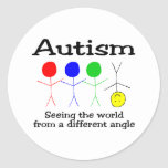 Autism Seeing The World From A Different Angle Classic Round Sticker