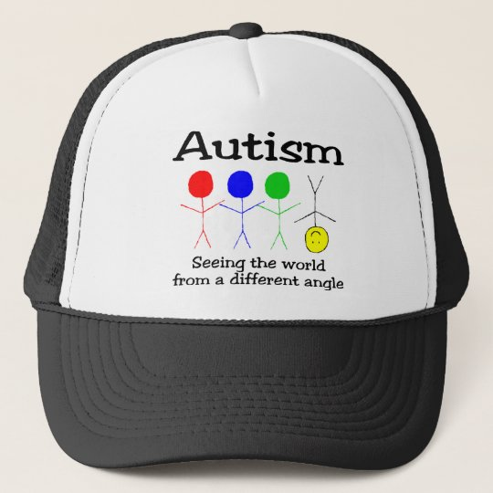 Autism Seeing The World From A Different Angle Trucker Hat
