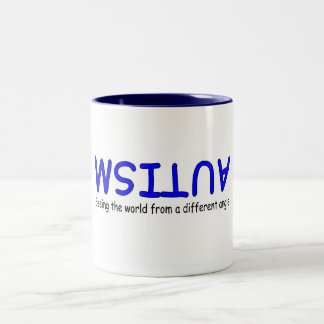 Autism Seeing The World From A Different Angle Two-Tone Coffee Mug