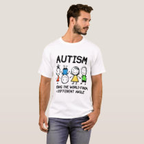 Autism Seeing The World From A Different Angle Wom T-Shirt