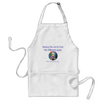 Autism Seeing the world from the different angle Adult Apron