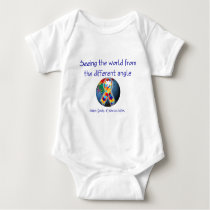 Autism Seeing the world from the different angle Baby Bodysuit