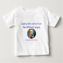Autism Seeing the world from the different angle Baby T-Shirt