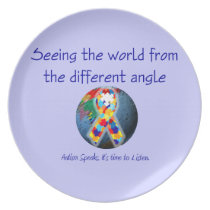 Autism Seeing the world from the different angle Dinner Plate
