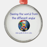 Autism Seeing the world from the different angle Christmas Ornament