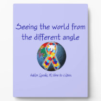 Autism Seeing the world from the different angle Plaque