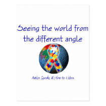 Autism Seeing the world from the different angle Postcard