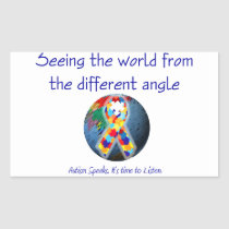 Autism Seeing the world from the different angle Rectangular Sticker