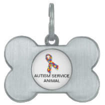 Autism Service Animal Dog Tag with Autism Logo
