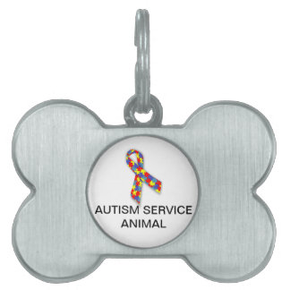 Autism Service Animal Dog Tag with Autism Logo Pet Tag
